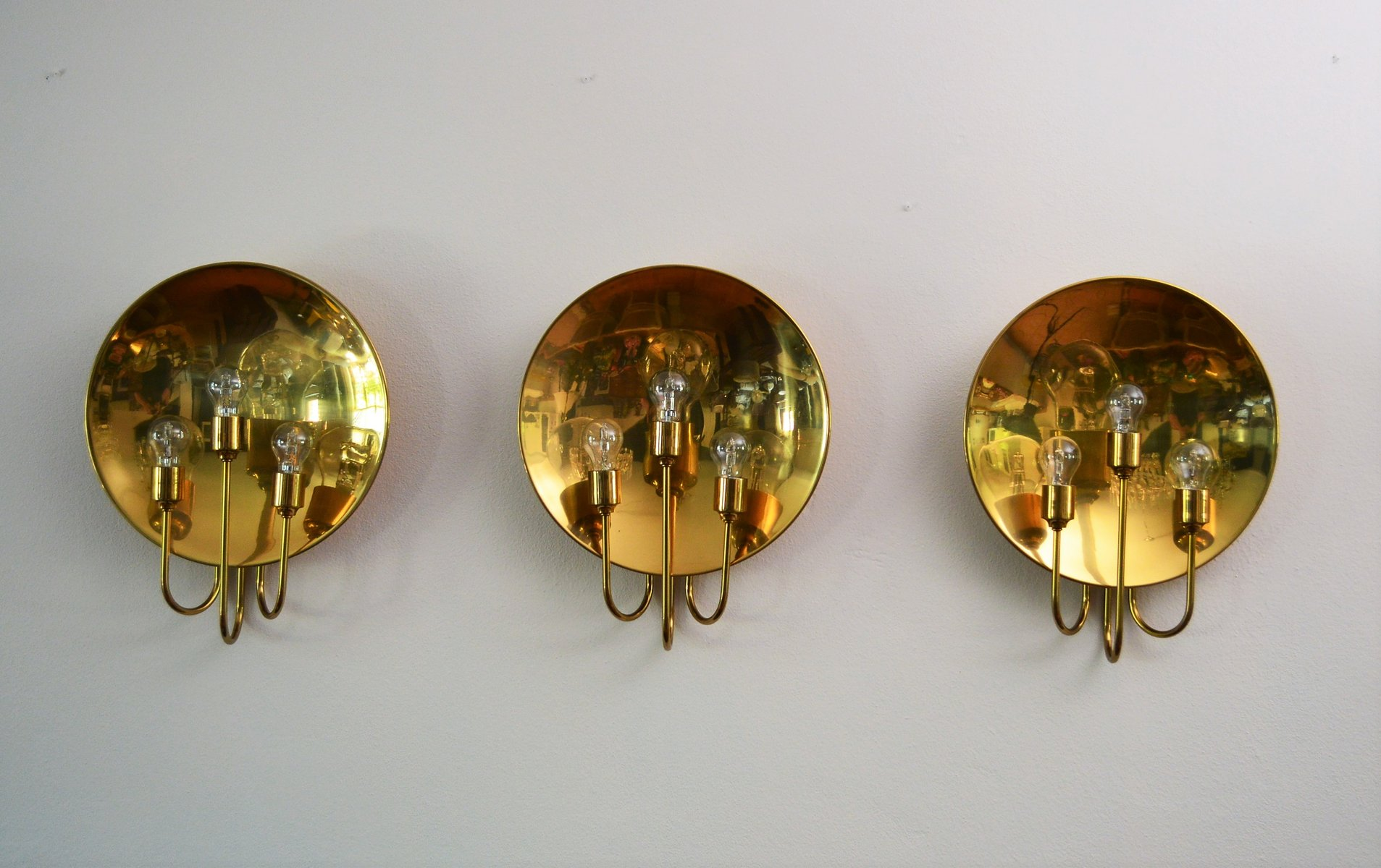 Florian Schulz large brass wall l from florian schulz 1960s for sale at pamono