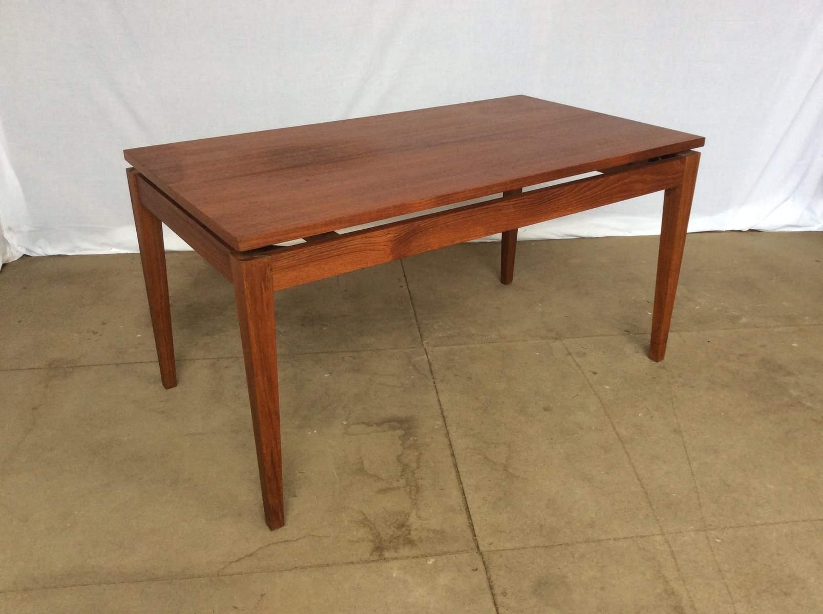 Teak Floating Top Coffee Table 1970s for sale at Pamono