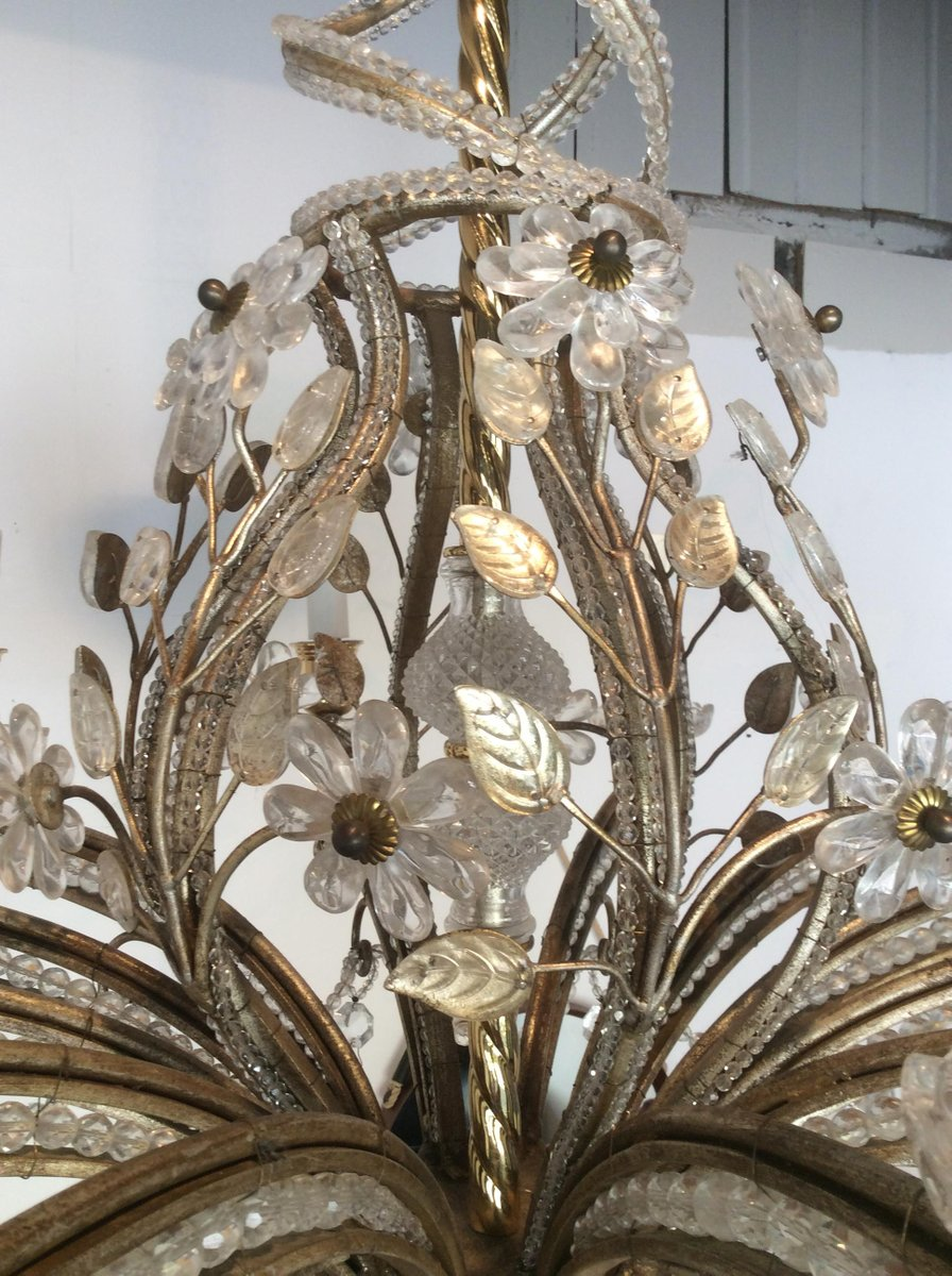 Leaf chandelier from maison bagues 1950s for sale at pamono arubaitofo Images