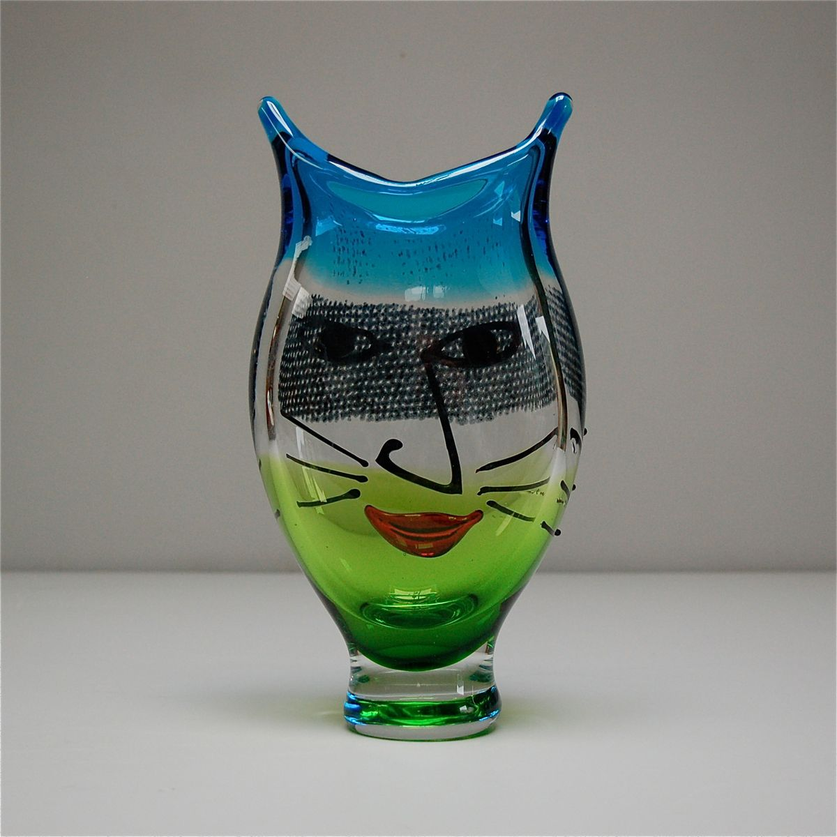 Murano glass vase with a cats face 1980s for sale at pamono murano glass vase with a cats face 1980s reviewsmspy