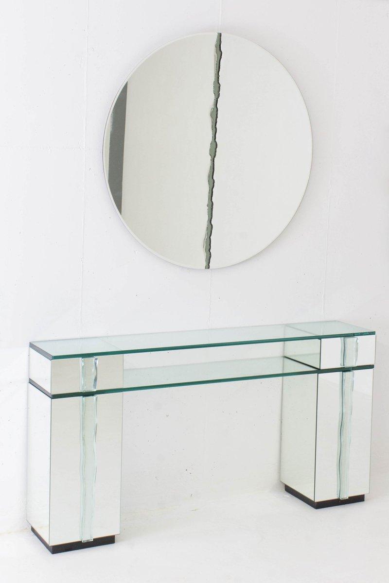 Consolle Hollywood Regency con specchio, anni \'70 in vendita su Pamono