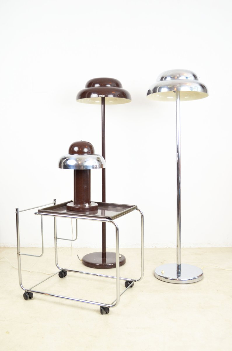 Silver cloud floor lamp by janos banati for opteam 1970s for Silver floor lamp australia