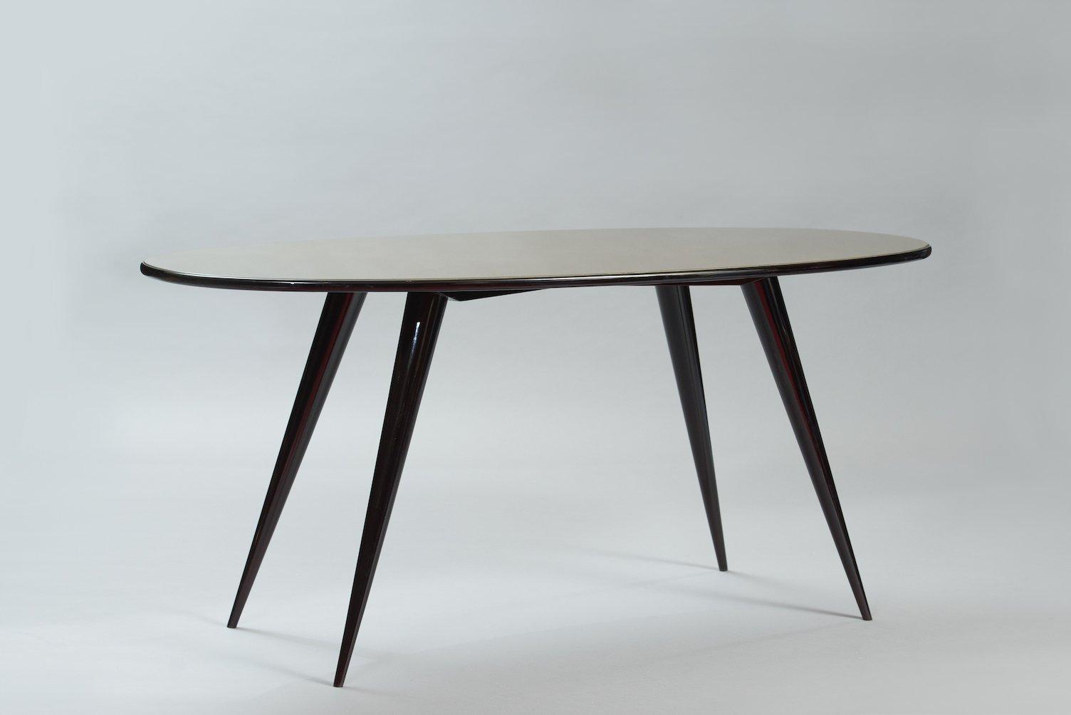 Mid Century Oval Italian Dining Table