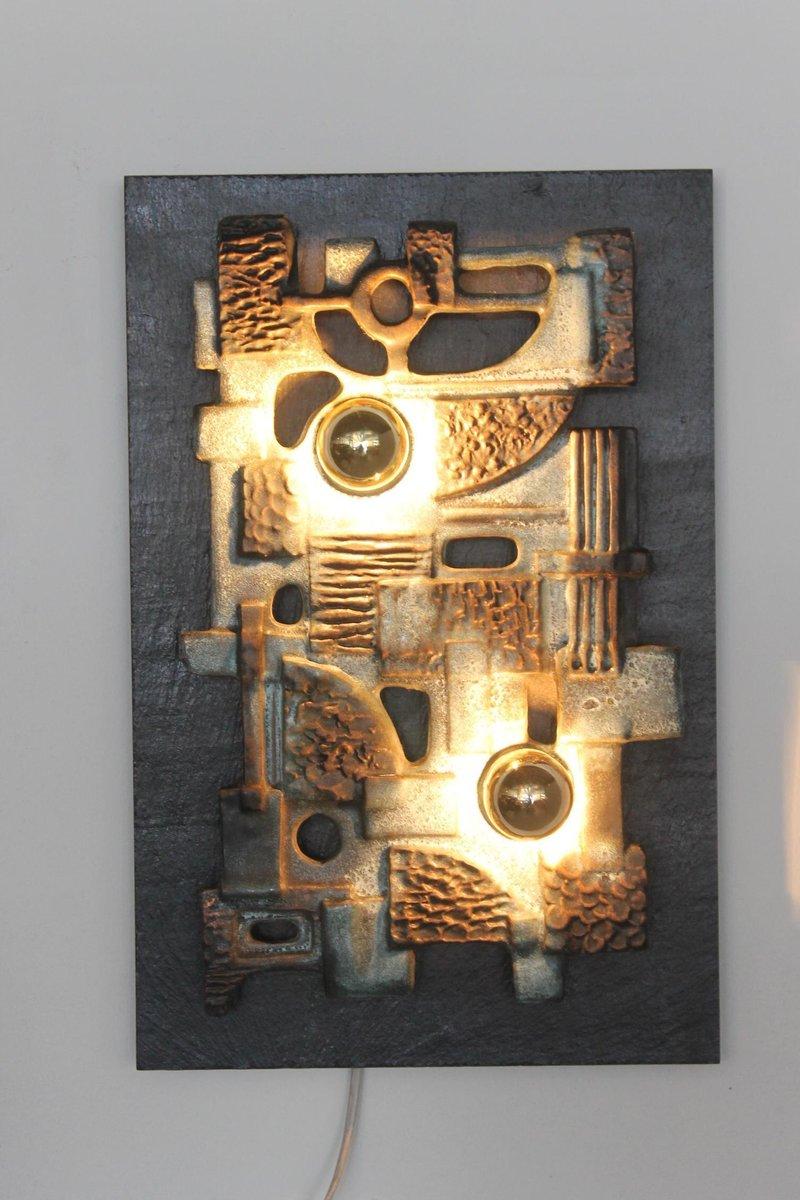applique murale sculpture vintage brutaliste en vente sur pamono. Black Bedroom Furniture Sets. Home Design Ideas