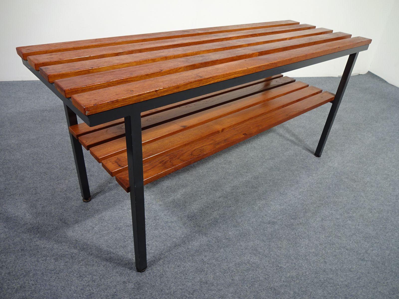 teak tubular steel bench 1940s for sale at pamono