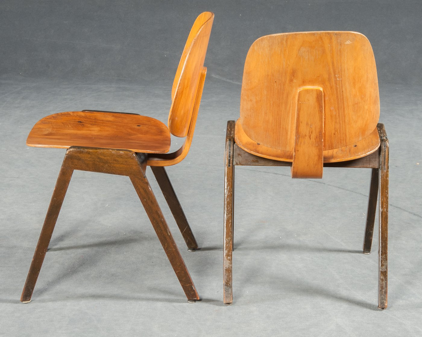 Vintage Bentwood Chairs From Thonet, Set Of 3