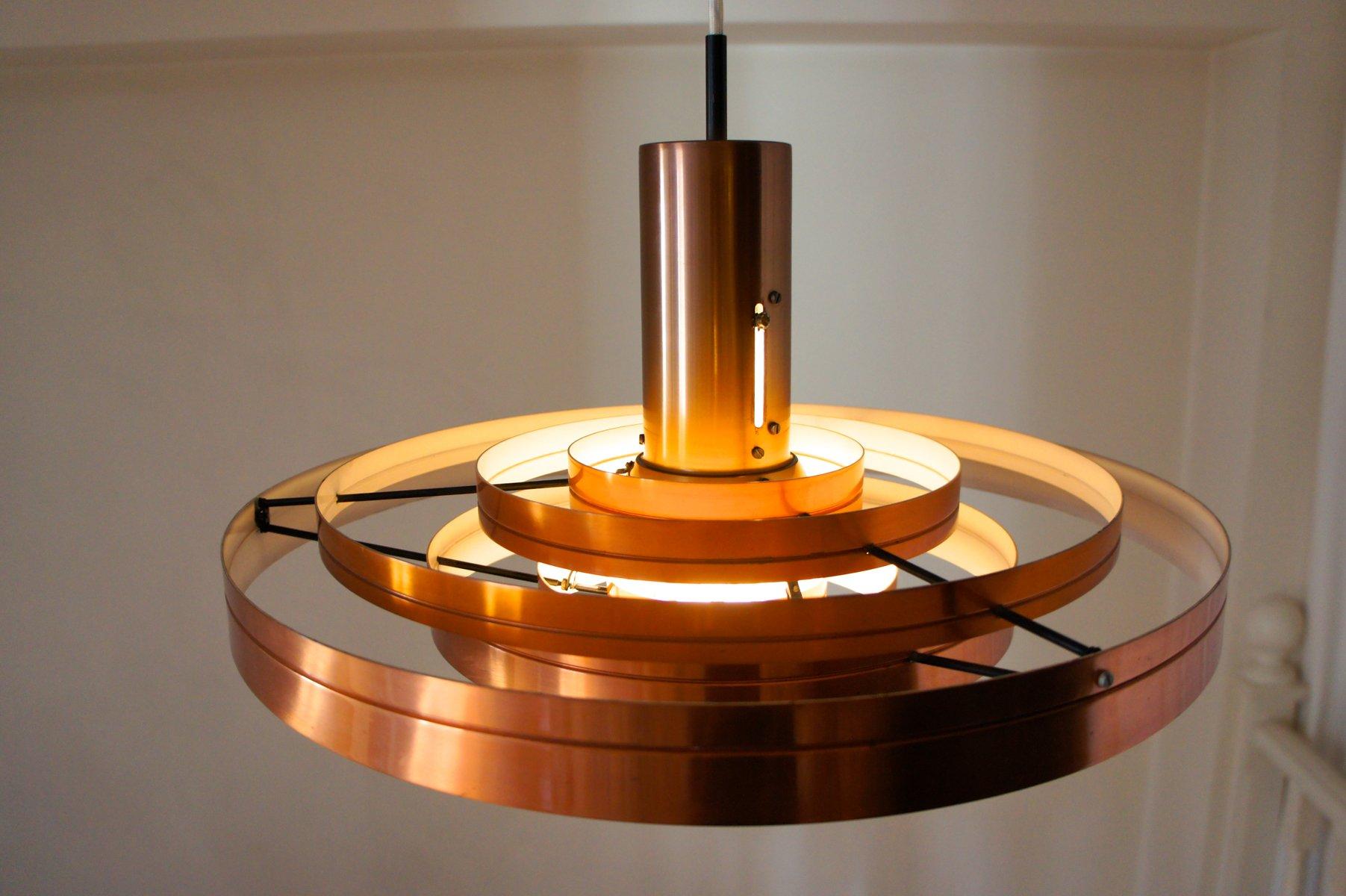 Vintage fibonacci suspension lamp by sophus frandsen for for Suspension a 3 lampes