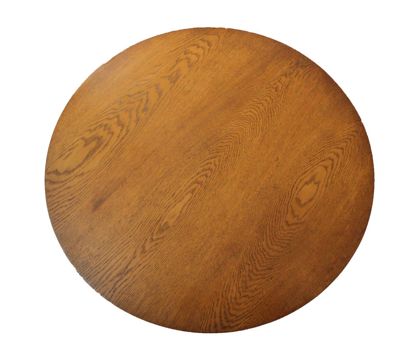 runder antiker tisch aus eiche und esche bei pamono kaufen