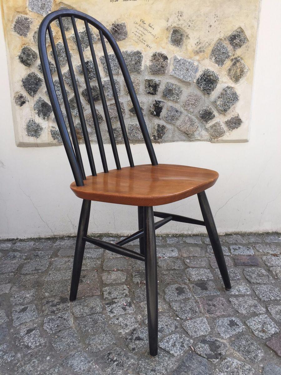 niederl ndische schwarz lackierte vintage st hle 2er set. Black Bedroom Furniture Sets. Home Design Ideas