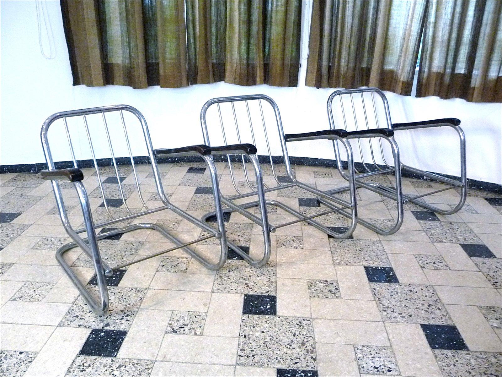 deutsche freischwinger bauhaus st hle aus stahlrohr von. Black Bedroom Furniture Sets. Home Design Ideas