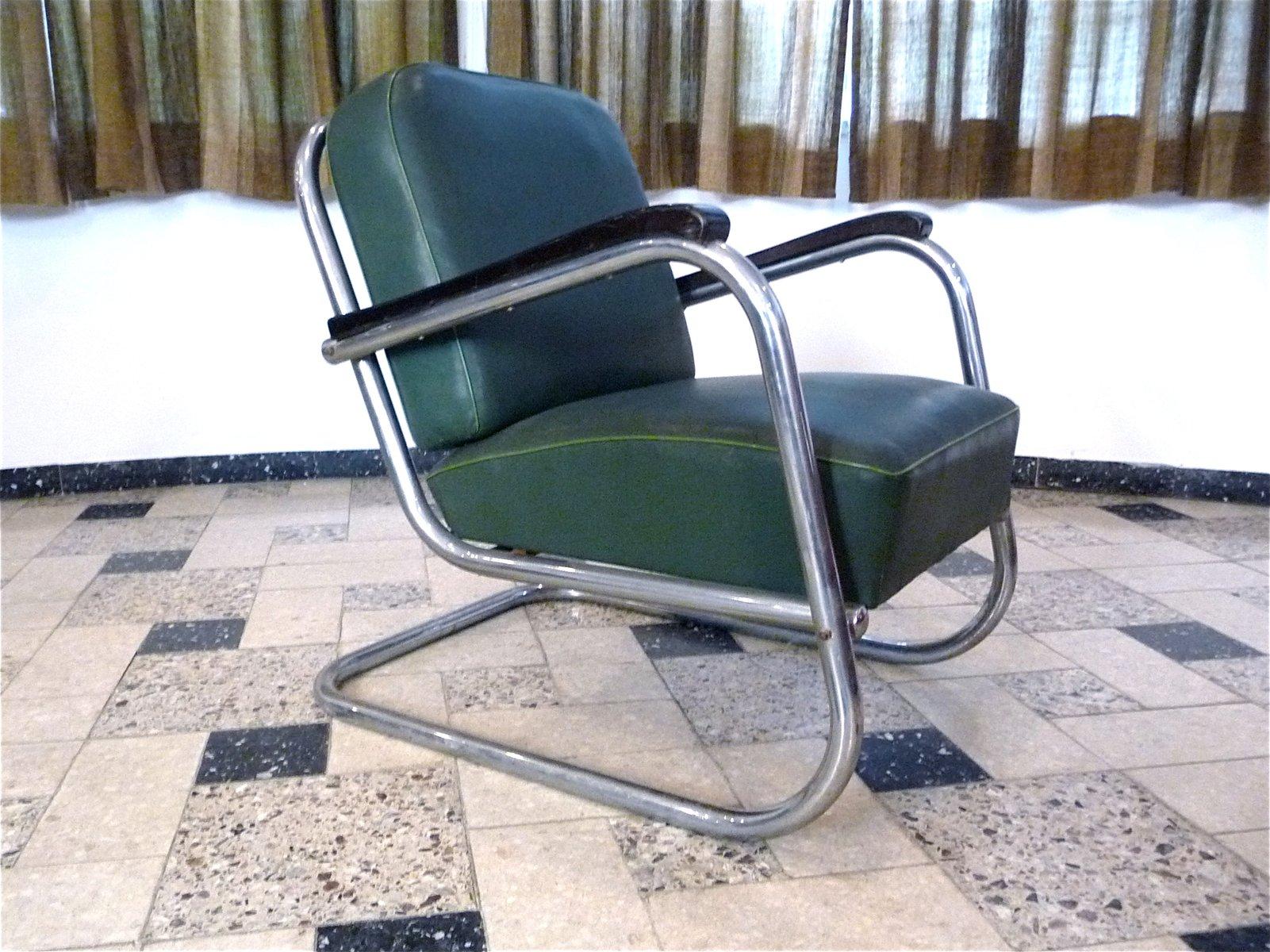 deutsche freischwinger bauhaus st hle aus stahlrohr von mauser werke 1930er 3er set bei pamono. Black Bedroom Furniture Sets. Home Design Ideas