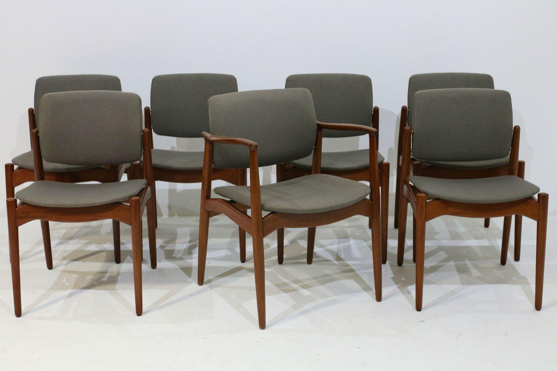 Se da pranzo e sedia con braccioli di Erik Buch per Orum Mobler set di 7