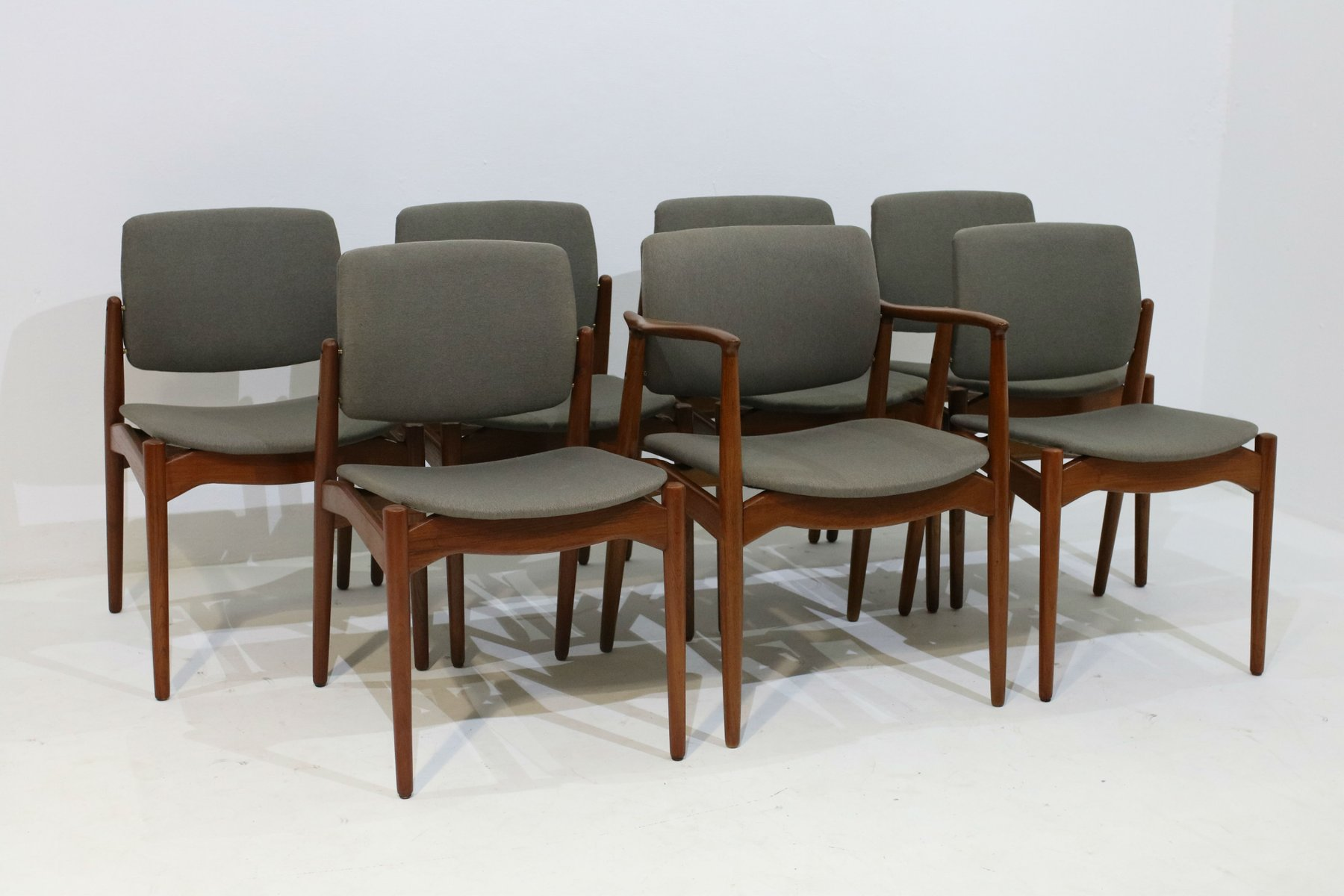 Dining Chairs & Armchair by Erik Buch for Orum Mobler Set of 7 for sale at Pamono