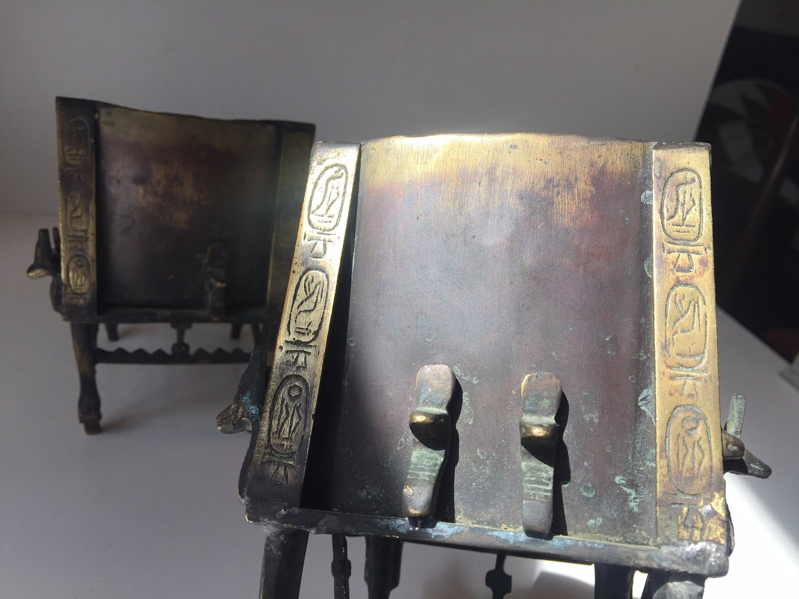 Antique Egyptian Brass Bookends for sale at Pamono