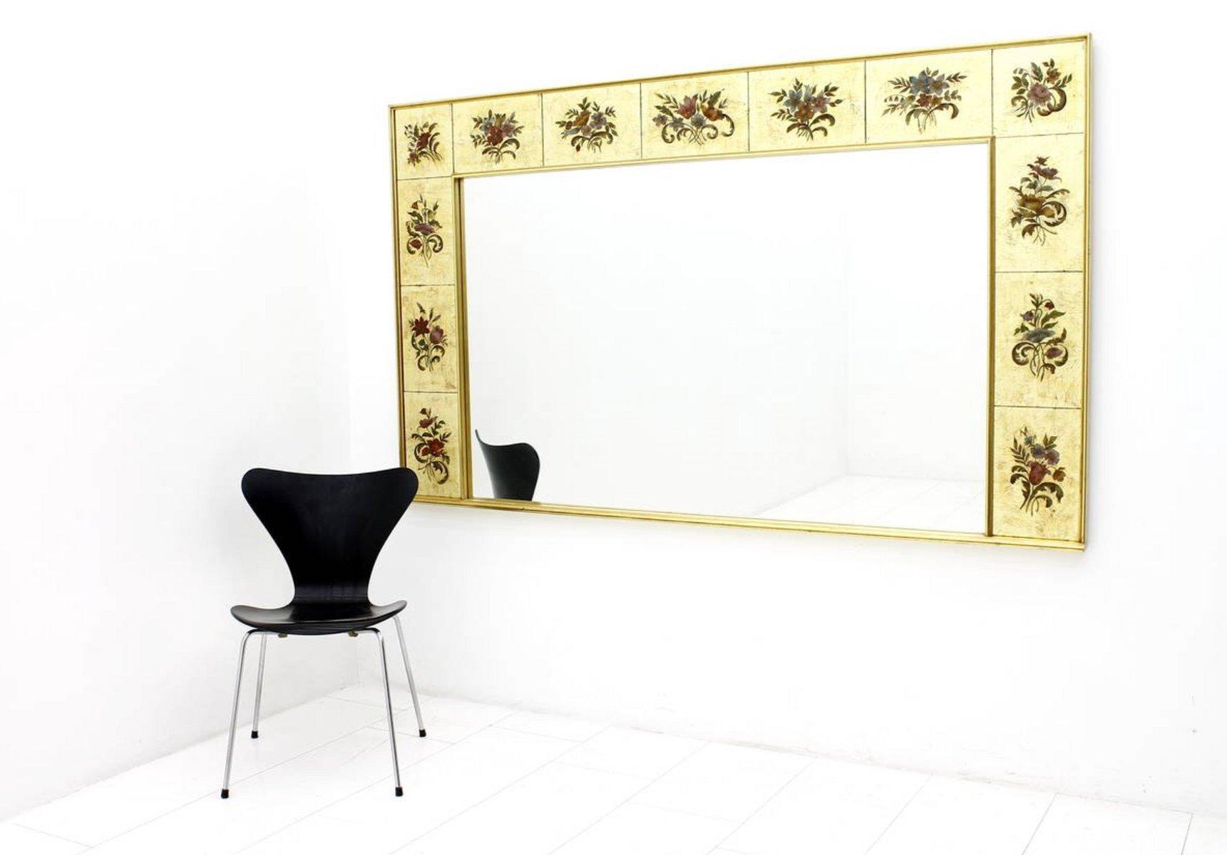 Grand Miroir Mural Décoratif 1980s en vente sur Pamono