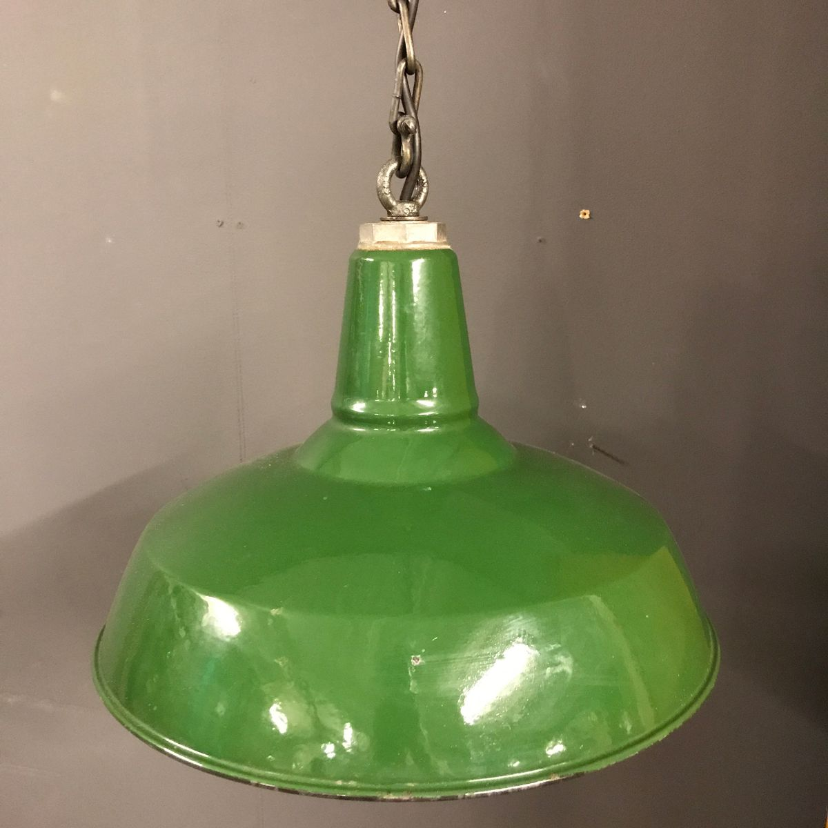 Vintage industrial green pendant light from benjamin for sale at pamono vintage industrial green pendant light from benjamin aloadofball Gallery