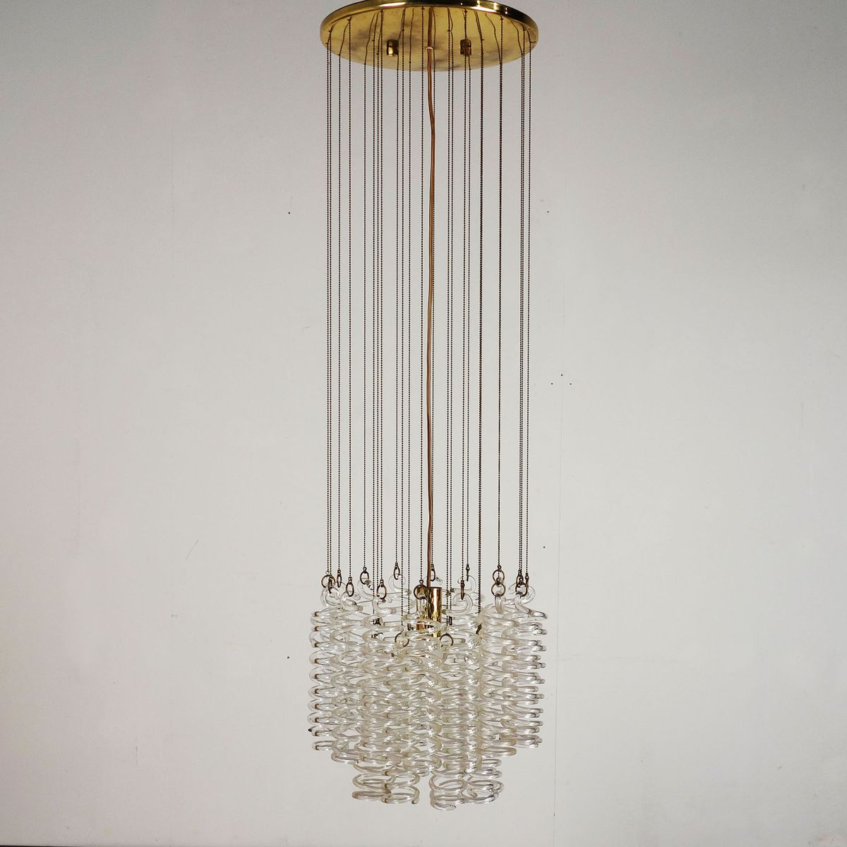 chandelier from spiral in antiques italy venini vintage circus large