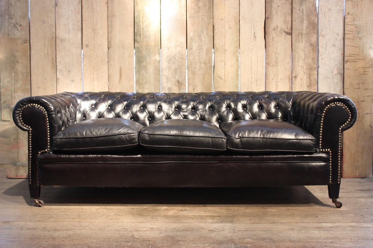 Chesterfield Black Sofa Home The Honoroak