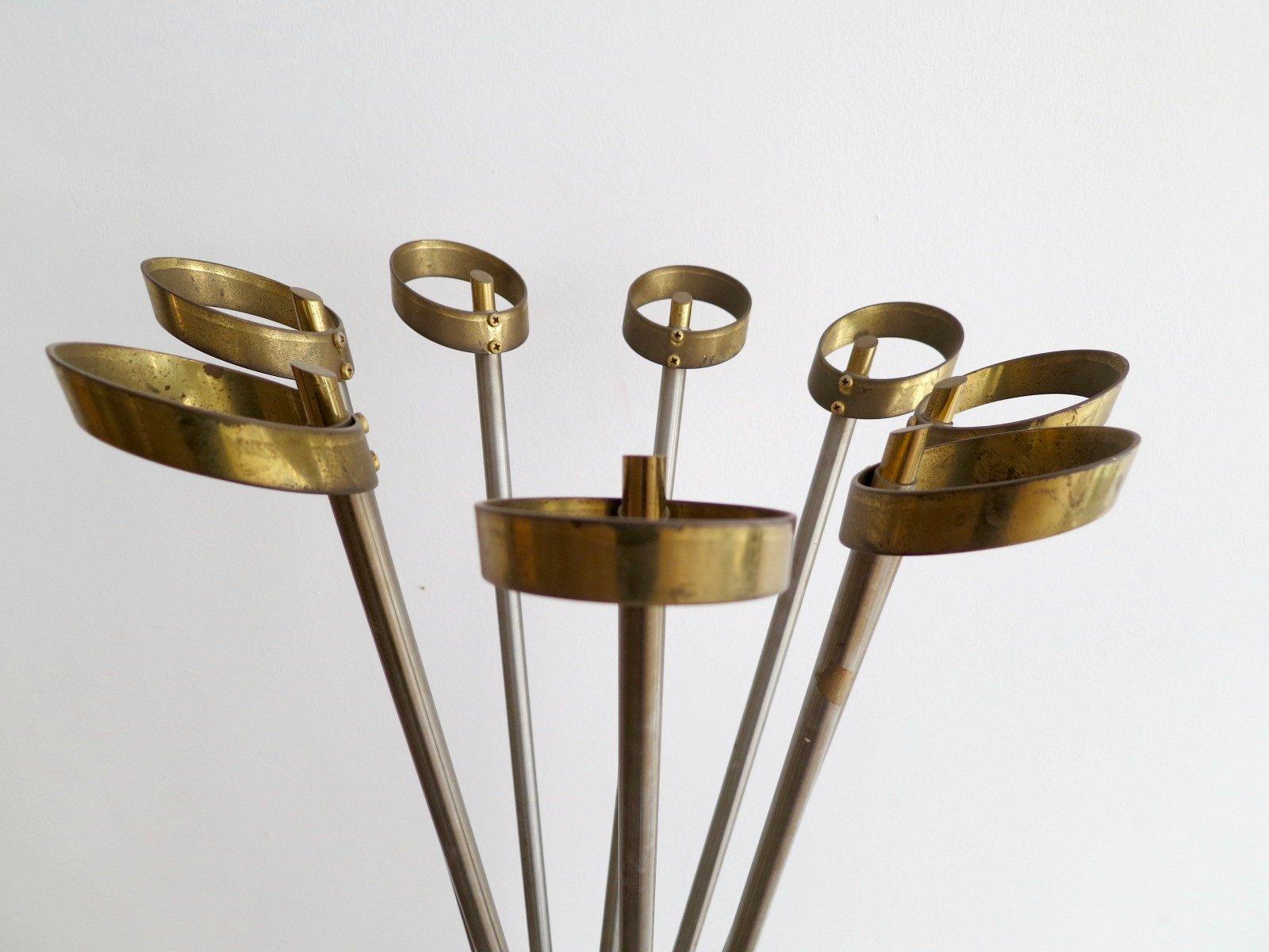 Attaccapanni vintage in ottone e acciaio italia in for Attaccapanni vintage