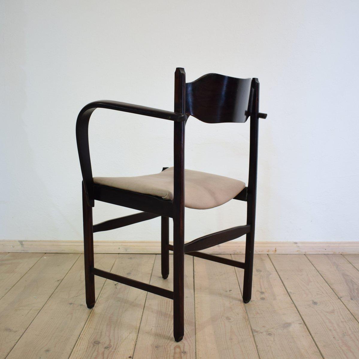 italienischer art deco armlehnstuhl bei pamono kaufen. Black Bedroom Furniture Sets. Home Design Ideas