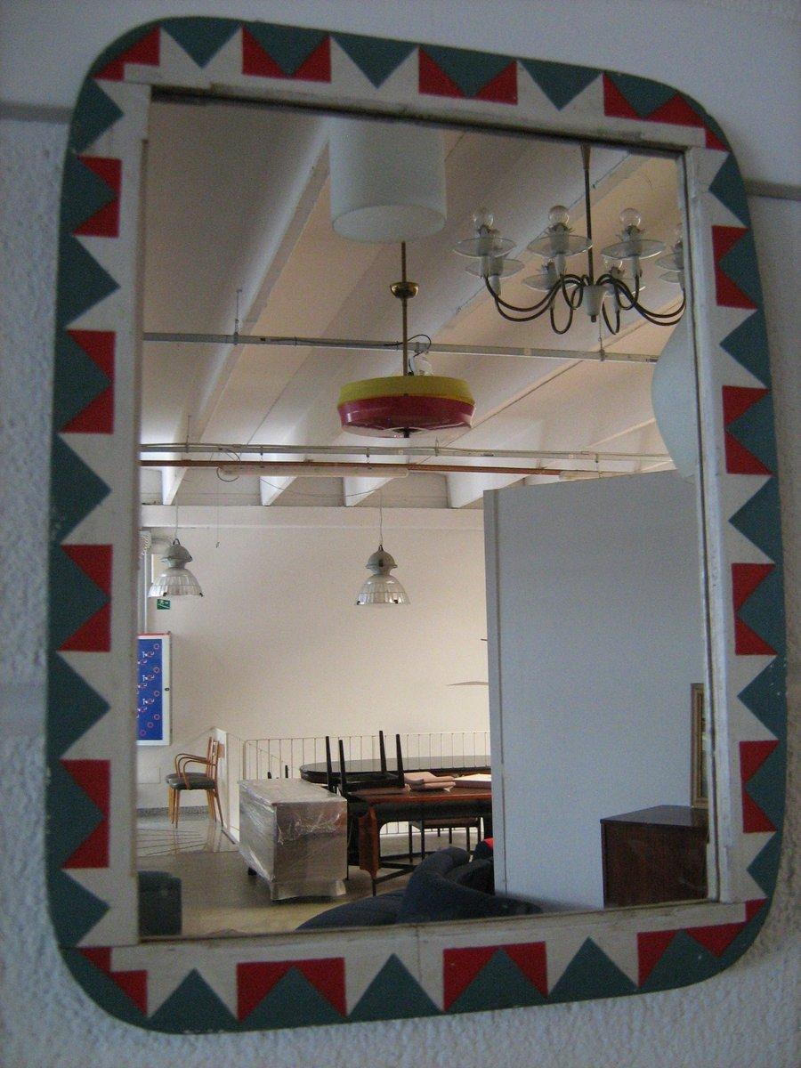 spiegel mit bemaltem rahmen 1926 bei pamono kaufen. Black Bedroom Furniture Sets. Home Design Ideas