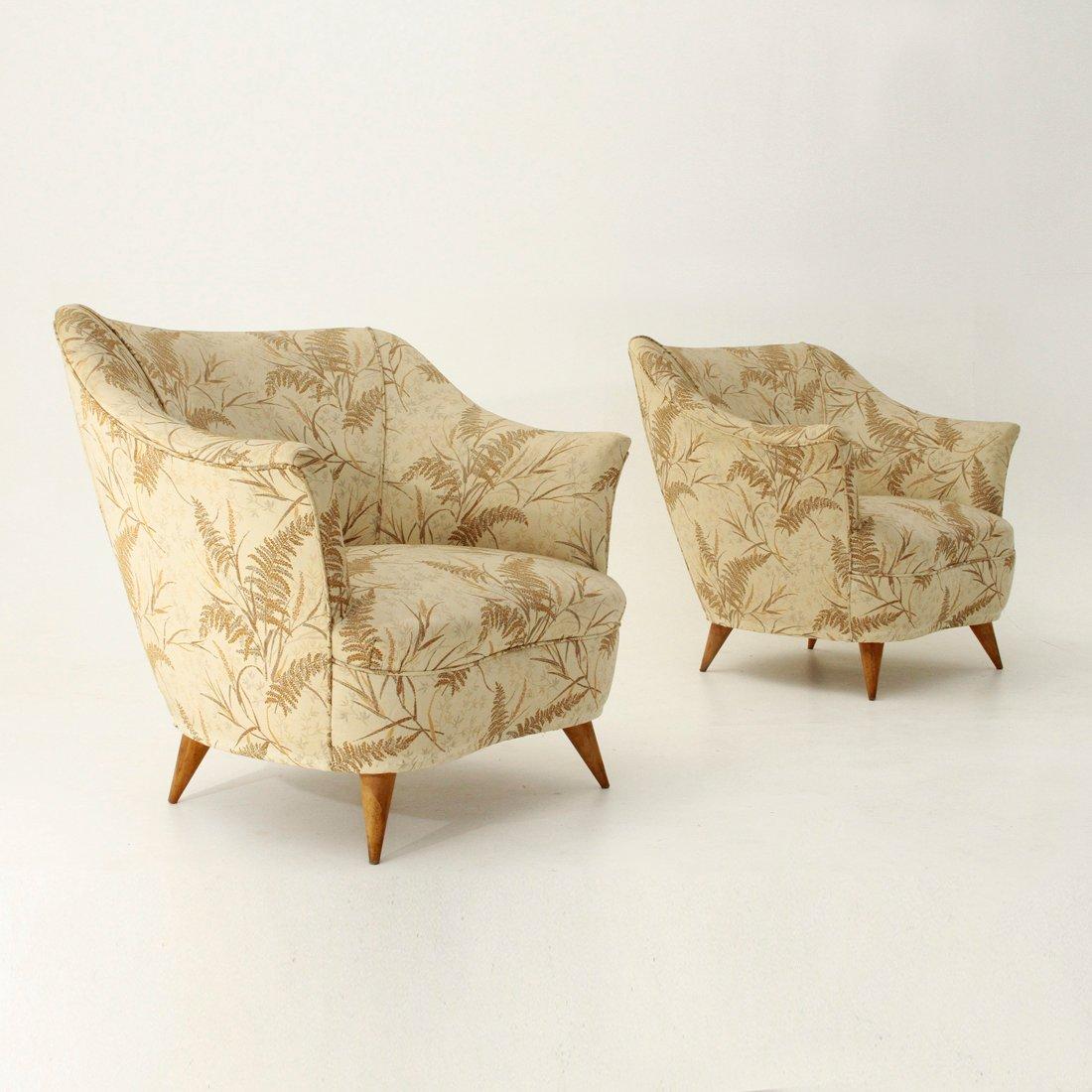 italienische mid century sessel 1950er 2er set bei pamono kaufen. Black Bedroom Furniture Sets. Home Design Ideas