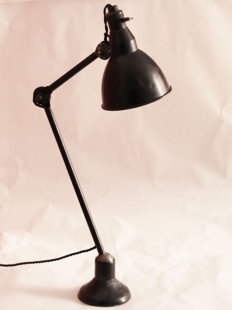 Vintage French Industrial Desk Lamp From Mazda