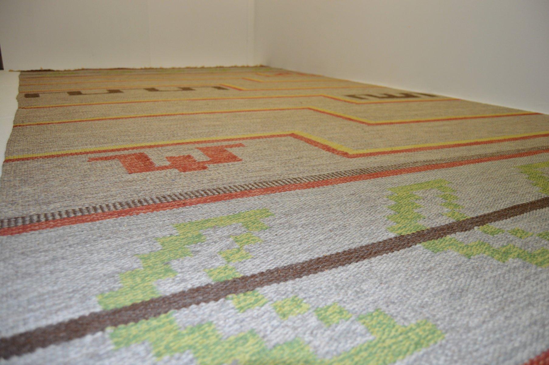 gro er flachgewebter schwedischer teppich bei pamono kaufen. Black Bedroom Furniture Sets. Home Design Ideas