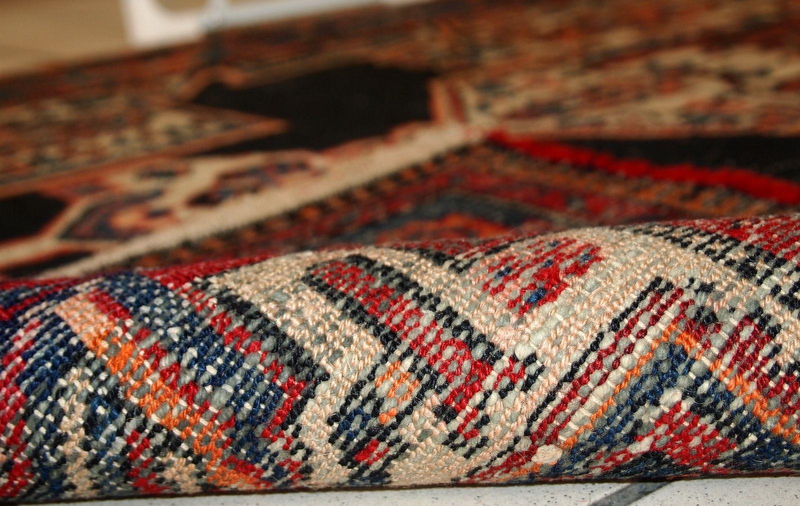 handgemachter persischer vintage hamadan teppich 1920er. Black Bedroom Furniture Sets. Home Design Ideas