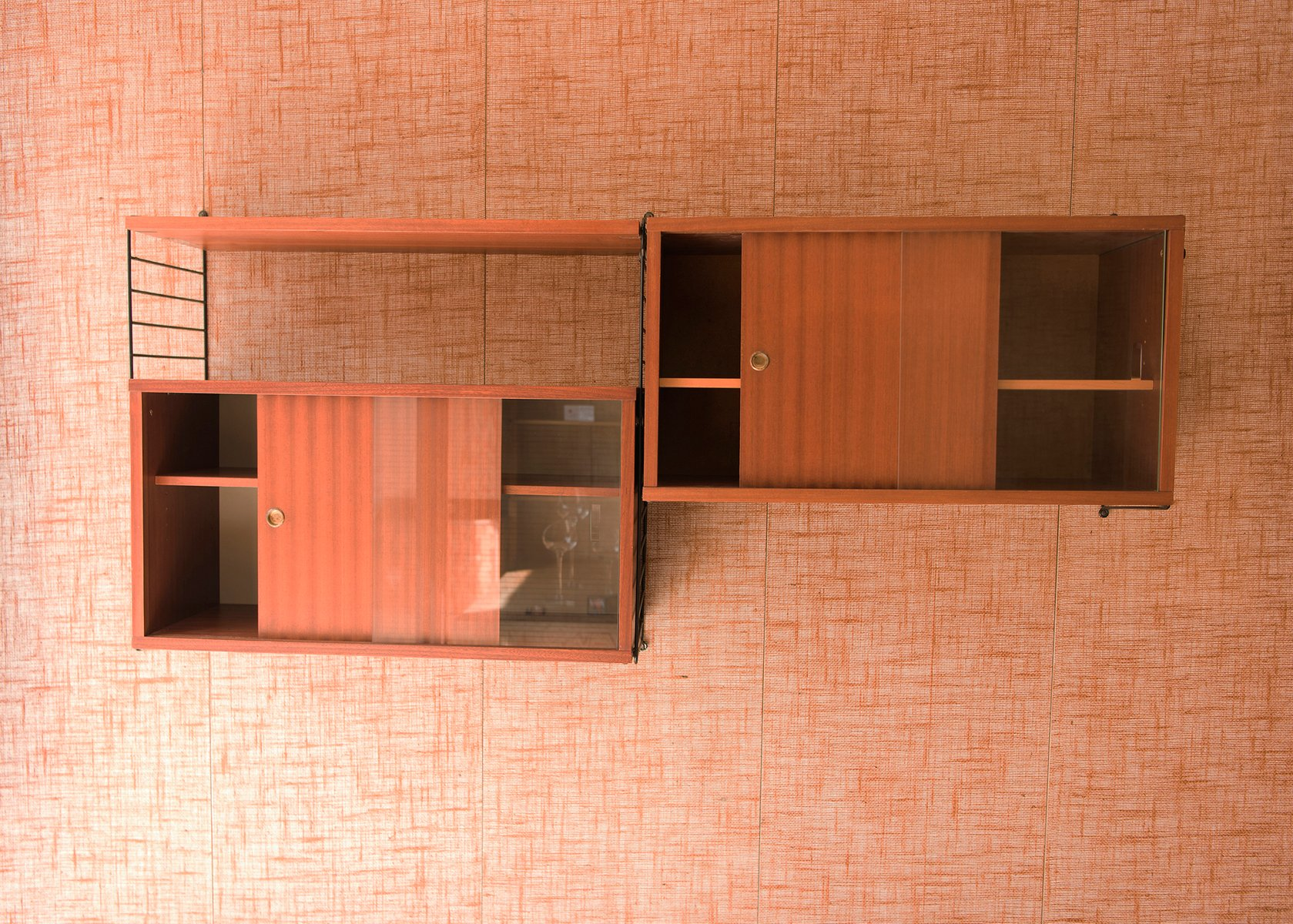 wall unit by nisse strinning for string 1950s for sale at pamono. Black Bedroom Furniture Sets. Home Design Ideas