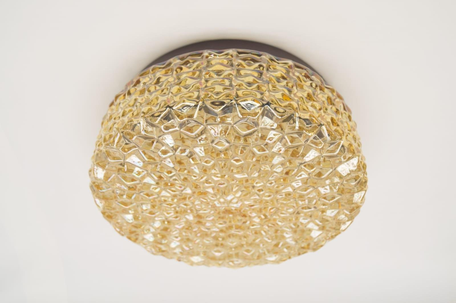 Golden Structure Glass Wall Lamp with Geometric 3D Pattern, 1960s ... for Geometric Wall Lamp  34eri