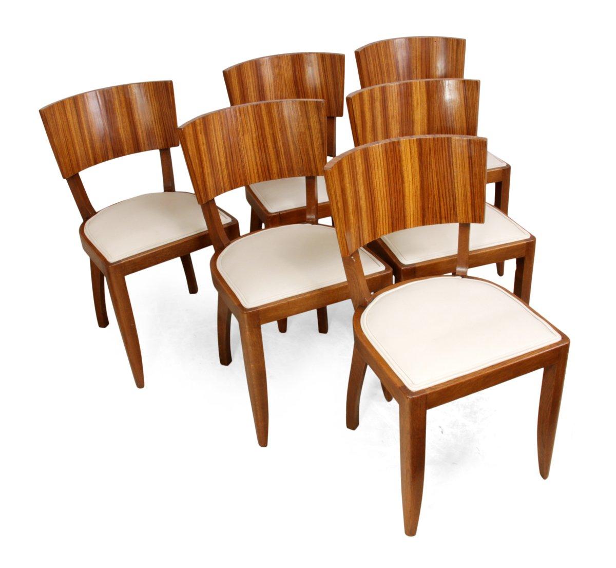 art deco esszimmerst hle 1930er 6er set bei pamono kaufen. Black Bedroom Furniture Sets. Home Design Ideas