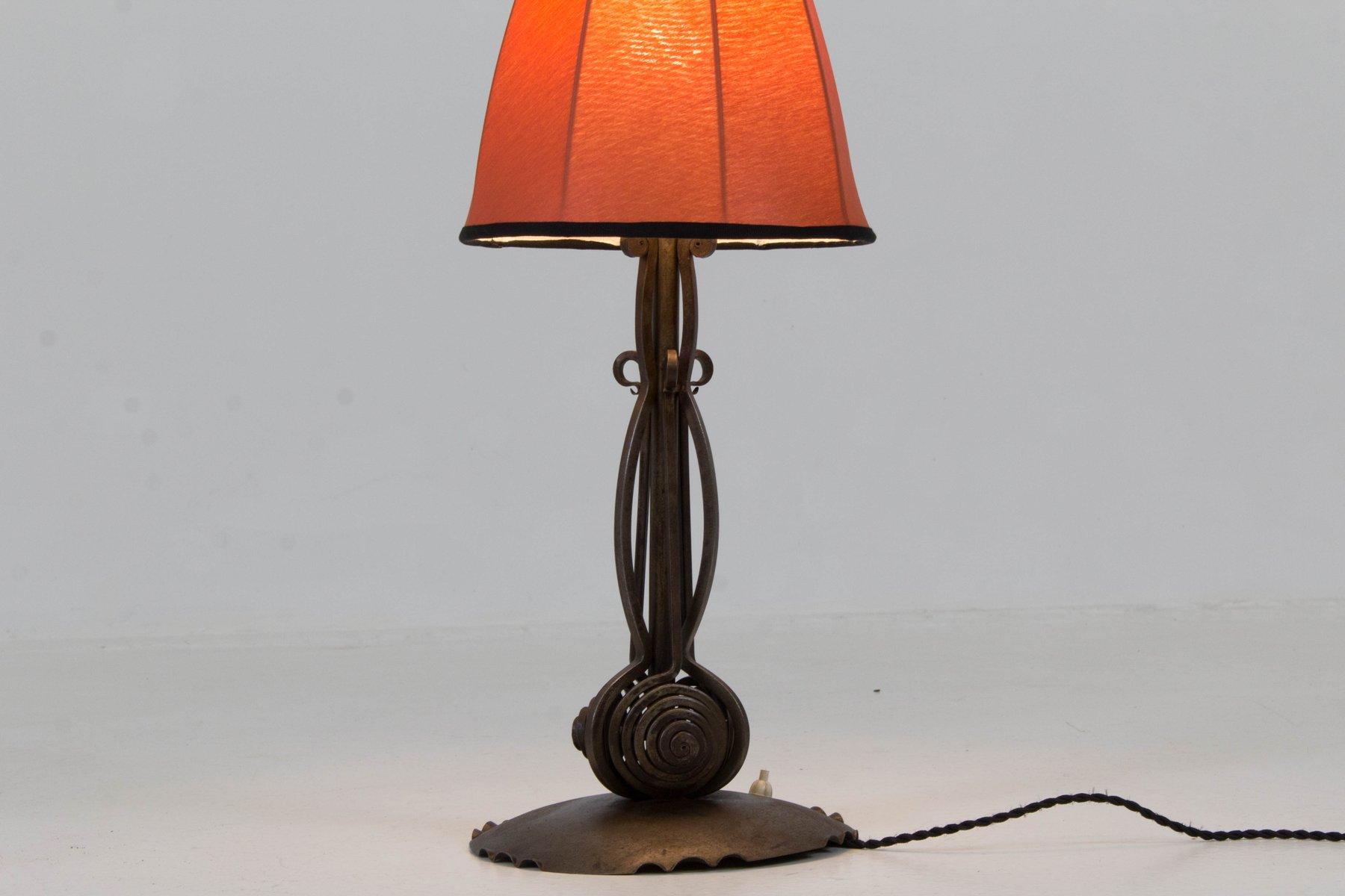 lampe de bureau art d co cole d amsterdam de winkelman van der bijl 1920s en vente sur pamono. Black Bedroom Furniture Sets. Home Design Ideas