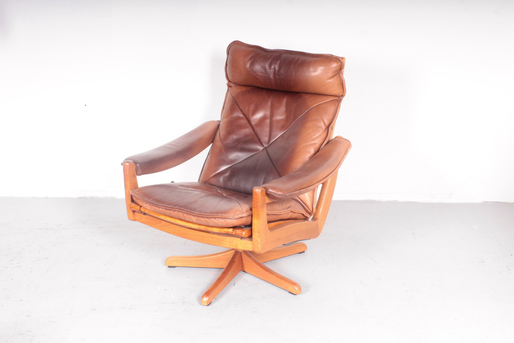norwegian vintage office chair. vintage norwegian easy chair from söda galvano office
