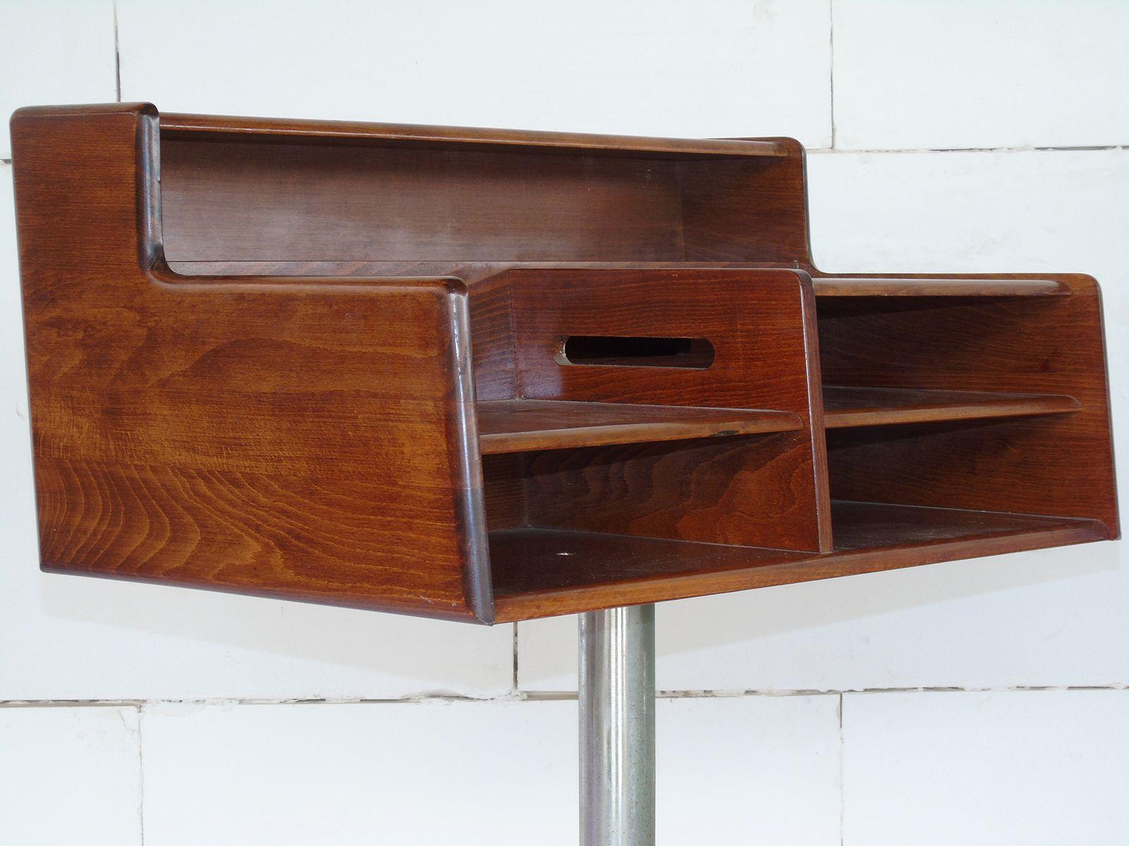 italienischer schreibtisch aus stahl holz von fimsa. Black Bedroom Furniture Sets. Home Design Ideas