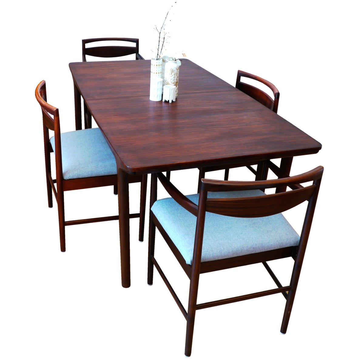 Large Mid Century 12 Seater Rosewood Dining Table By Tom Robertson For McIntosh Sale At Pamono