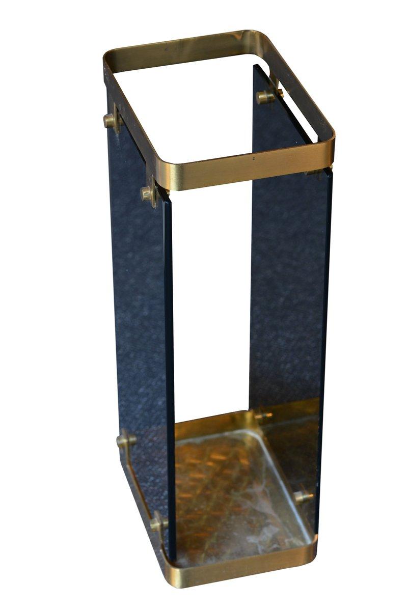 schirmst nder aus glas messing von max ingrand f r fontana arte 1960er bei pamono kaufen. Black Bedroom Furniture Sets. Home Design Ideas