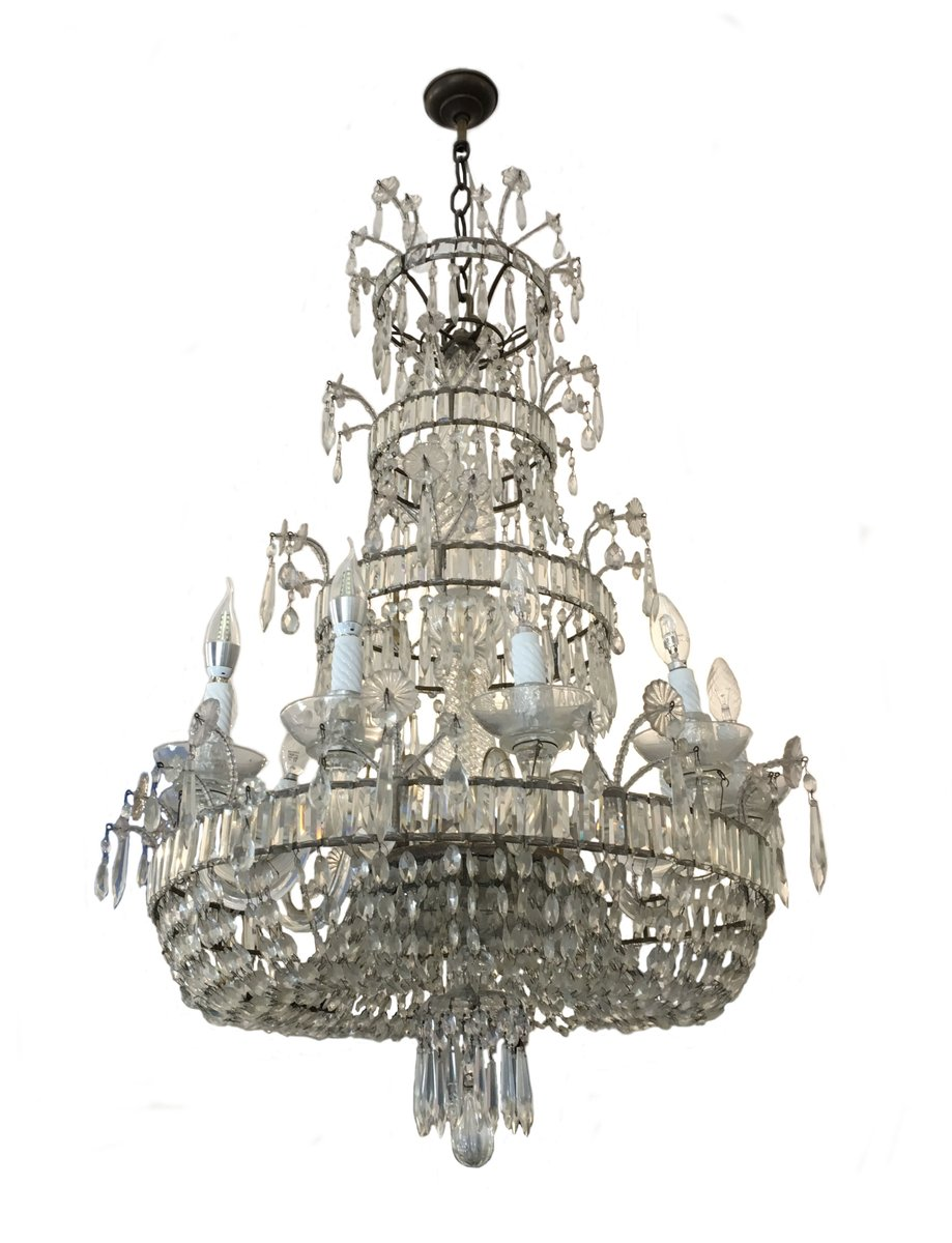 - Antique Crystal Chandelier For Sale At Pamono