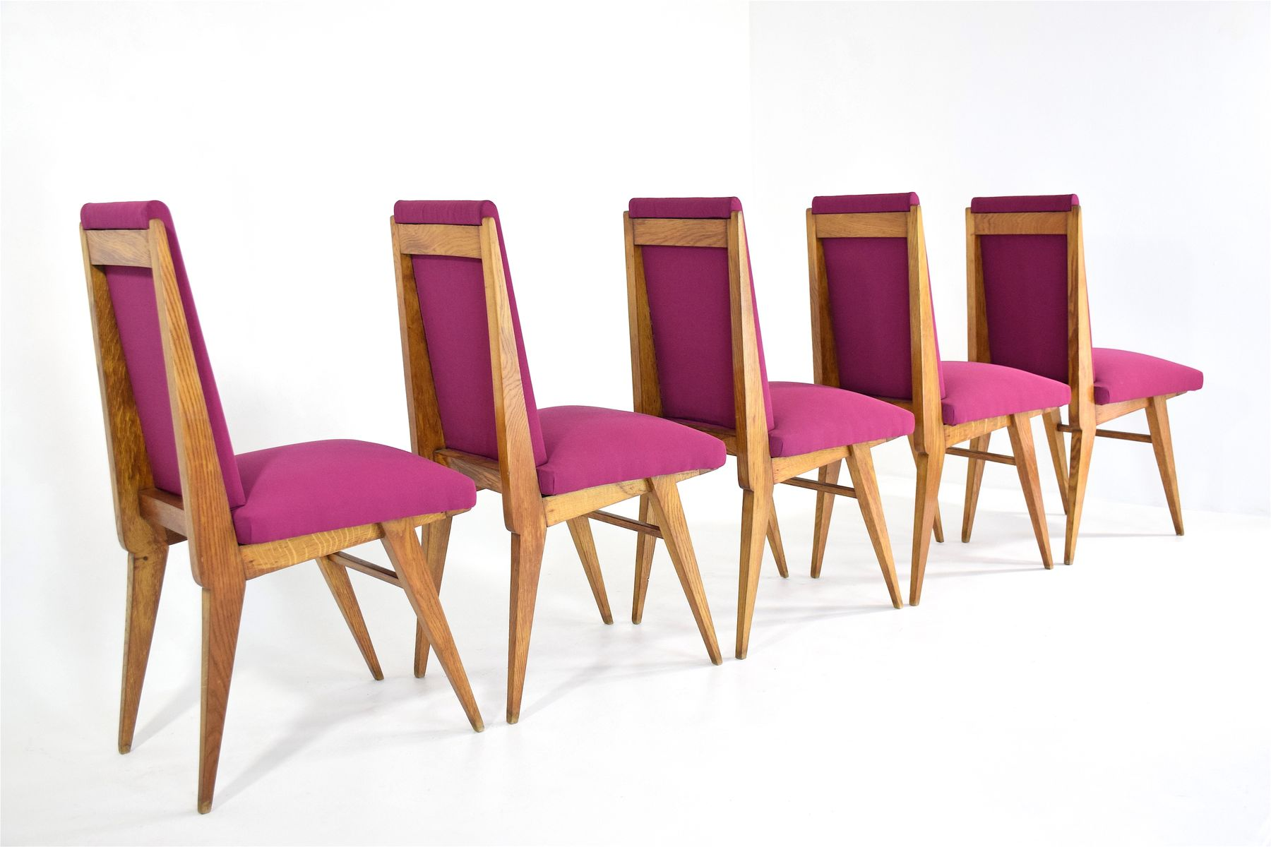 furniture art deco style. Vintage French Art Deco Style Dining Chairs, Set Of 5 Furniture O