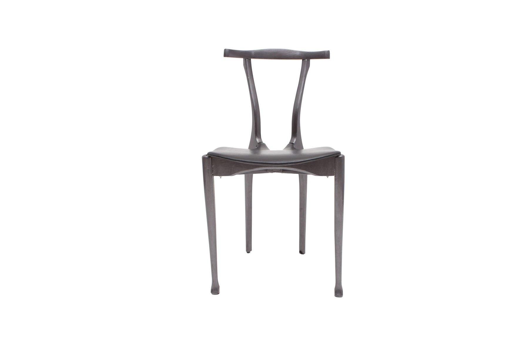 schwarze gaulino st hle von oscar tusquets 1980er 4er. Black Bedroom Furniture Sets. Home Design Ideas