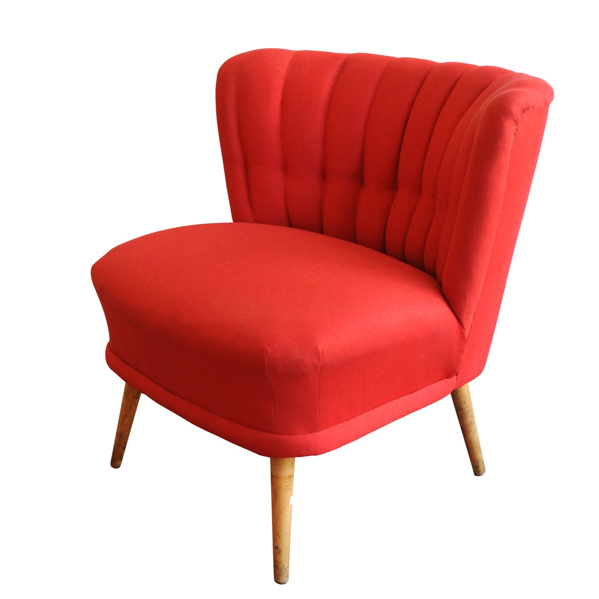 Roter vintage cocktail sessel bei pamono kaufen for Roter sessel