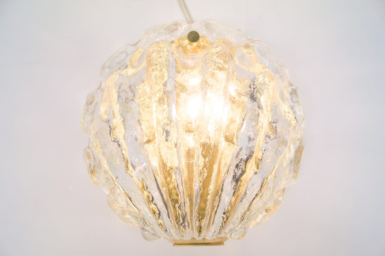 Golden ice glass shell wall lamp from kalmar 1960s for sale at pamono golden ice glass shell wall lamp from kalmar 1960s mozeypictures