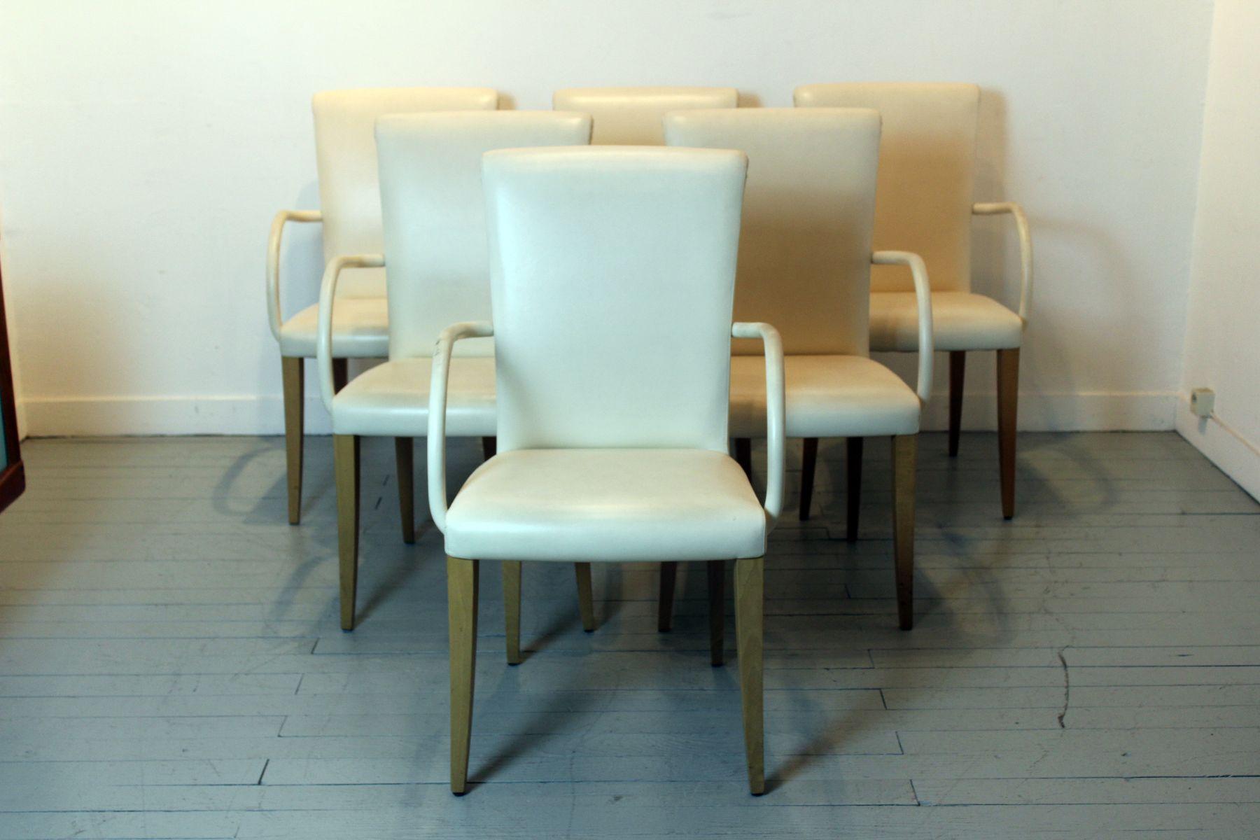 victoria leder armlehnst hle von poltrona frau 6er set bei pamono kaufen. Black Bedroom Furniture Sets. Home Design Ideas