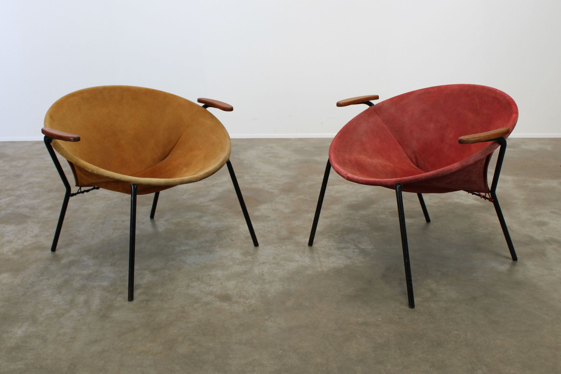 Vintage Colorful Balloon Lounge Chairs By Hans Olsen, Set Of 2