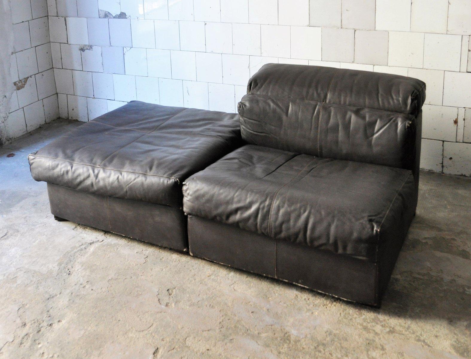 ledersofa von afra tobia scarpa f r b b italia 1974 bei pamono kaufen. Black Bedroom Furniture Sets. Home Design Ideas