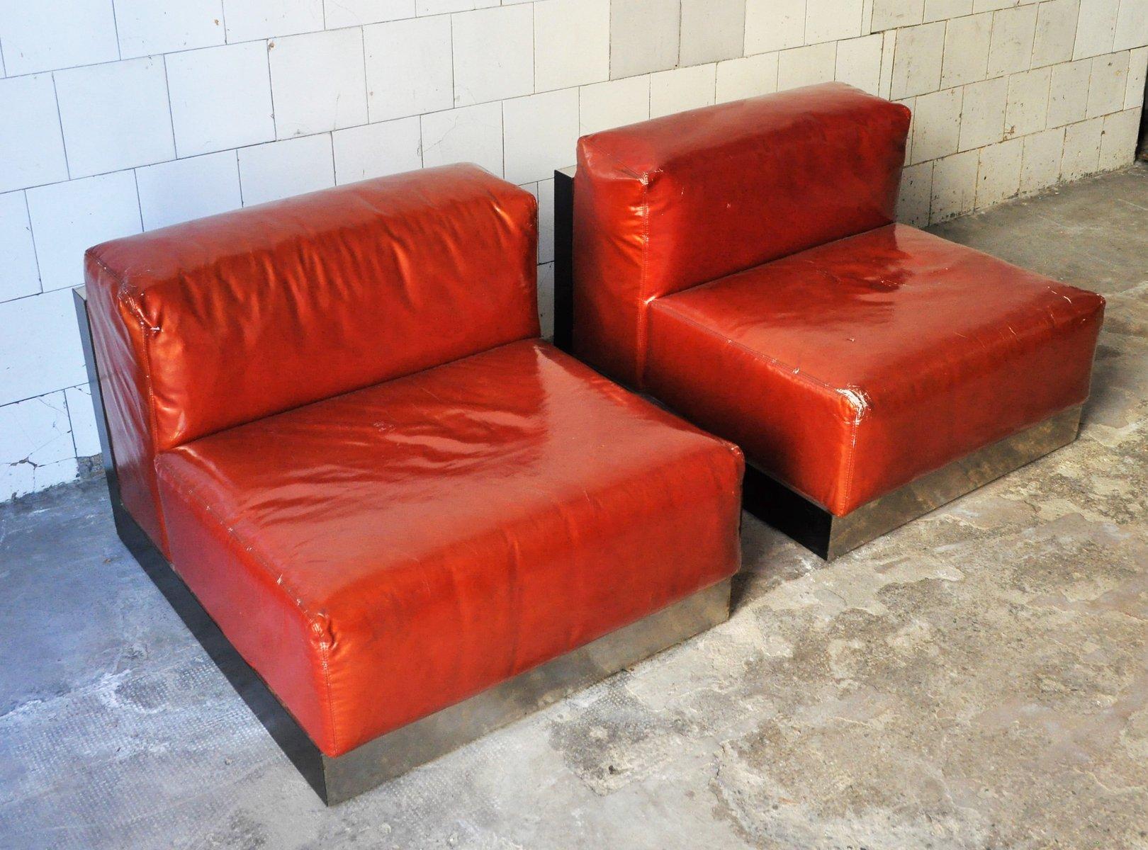 lackierte italienische vintage sessel von cinova 1970er. Black Bedroom Furniture Sets. Home Design Ideas