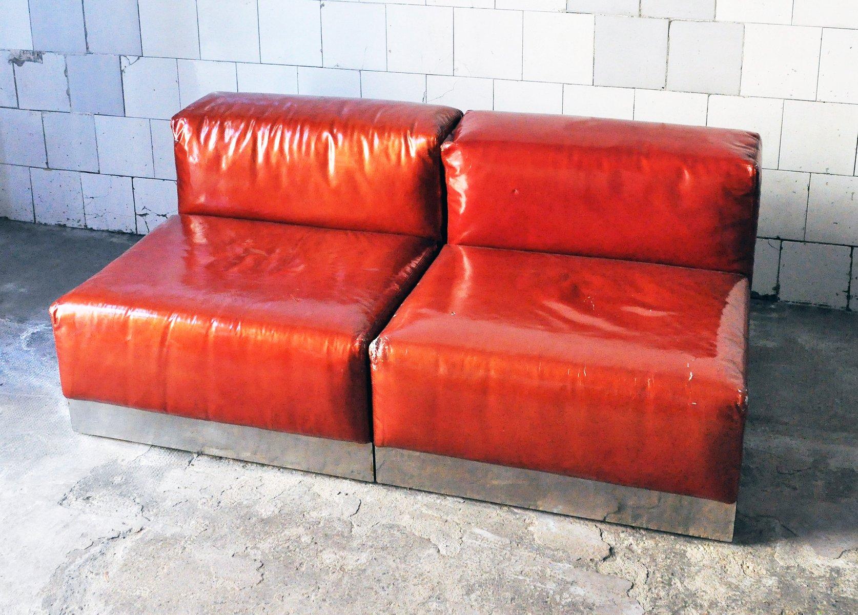 lackierte italienische vintage sessel von cinova 1970er 2er set bei pamono kaufen. Black Bedroom Furniture Sets. Home Design Ideas