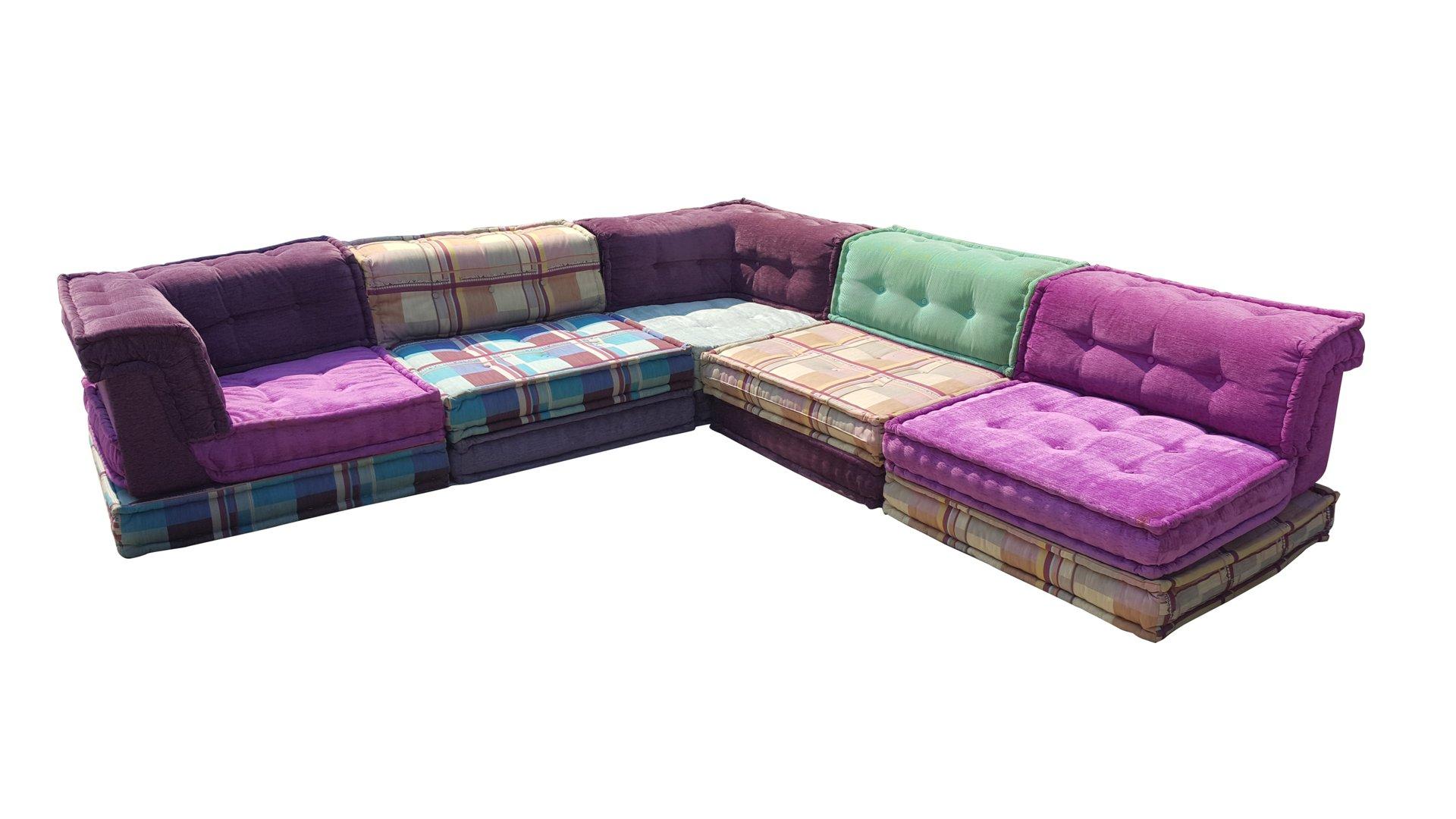 mah jong modular sofa by hopfer hans for roche bobois. Black Bedroom Furniture Sets. Home Design Ideas