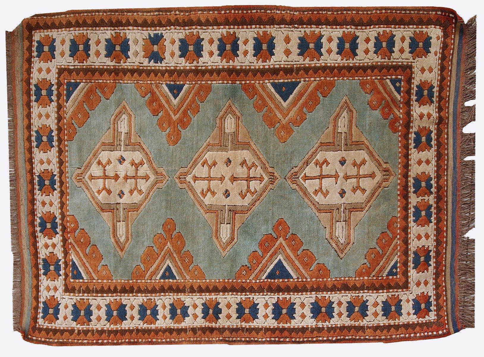 Russische Teppiche handgemachter russischer vintage kazak teppich 1970er bei pamono kaufen