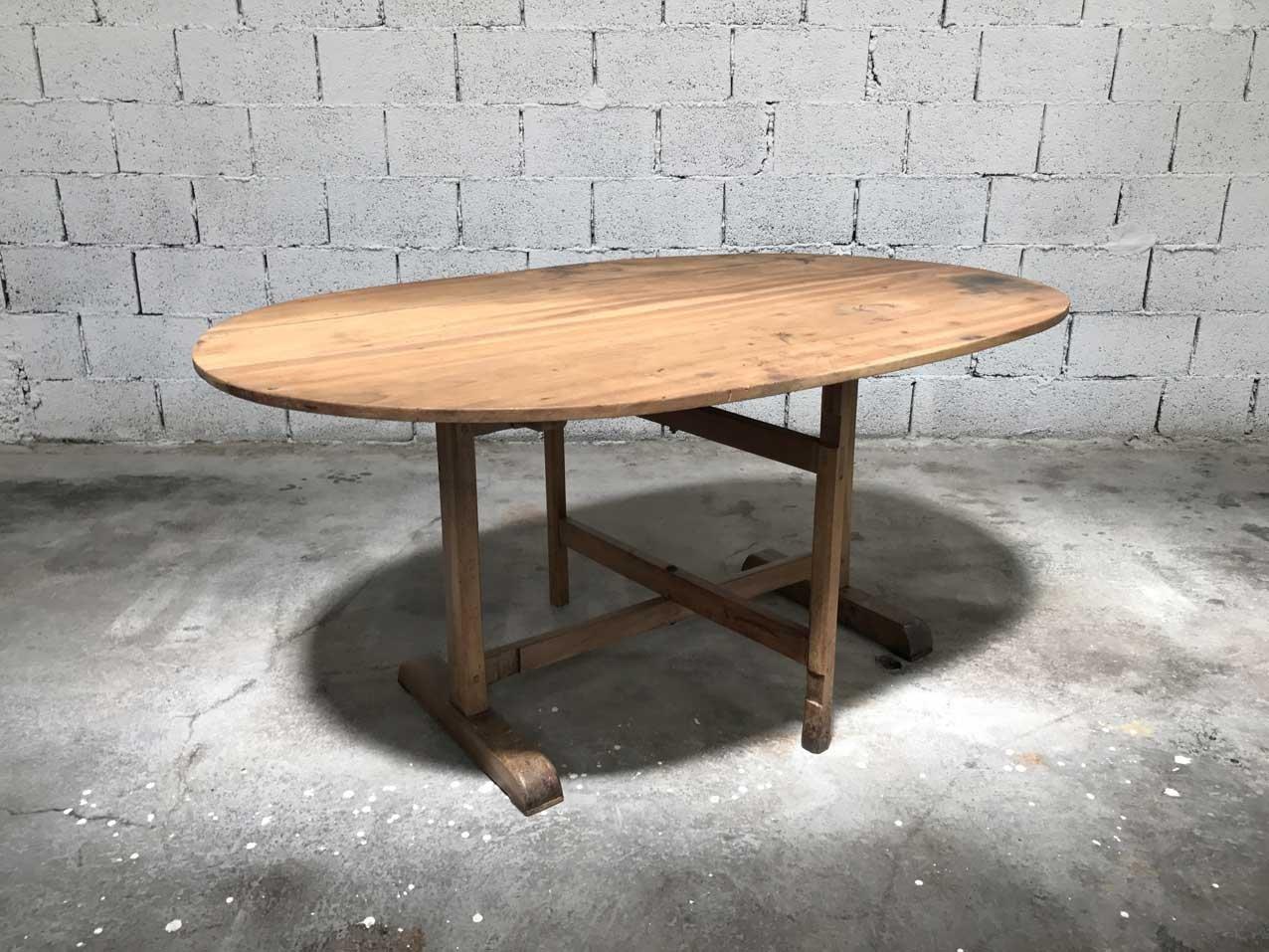 Ovaler vintage holztisch bei pamono kaufen for Holztisch retro
